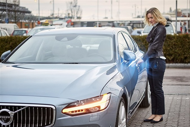 Volvo will launch digital key technology where customers won't need a physical key. They can unlock/lock the vehicle and start the engine from Volvo's mobile app. Photo courtesy of Volvo Cars.