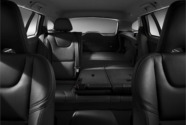 The rear seats fold down into a 40/20/40 configuration. Photo courtesy Volvo.