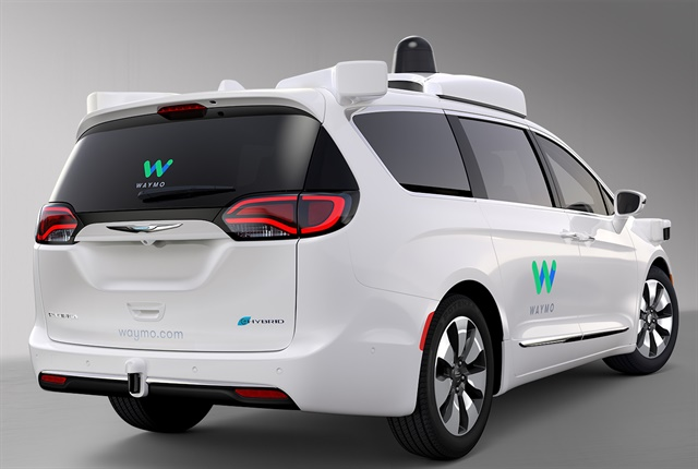 Photo of Waymo's Chrysler Pacifica Hybrid courtesy of FCA.