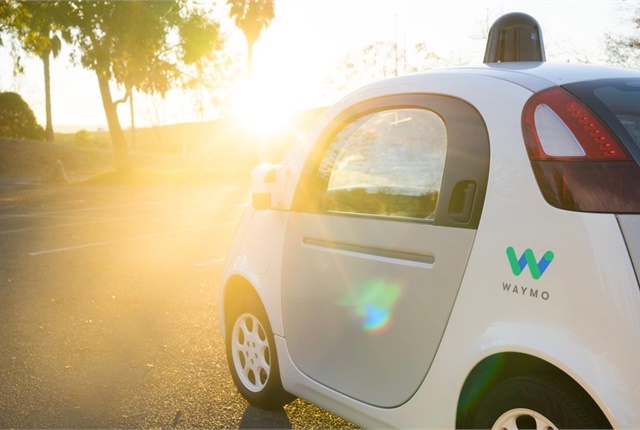 Photo of self-driving car courtesy of Waymo.