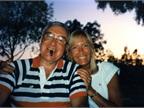 With his eldest daughter Bonnie Bobit.