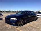 Drivers tested the 540i on an autocross course with professional instructors guiding the driving.