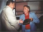 Ed presenting an award to Bob Brown, Sr.