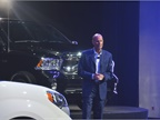 Frank Dankovich, director of fleet sales, addresses attendees with the