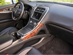 Leather seating surfaces and a leather-wrapped steering wheel place