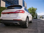 A power rear liftgate can be closed with the push of a button.