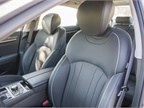 The driver s seat with premium leather can be adjusted in 16 different