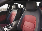 The R-Sport interior offers leather seating surfaces and an accent