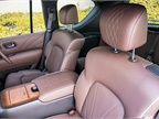 The seats and headrests include quilted stitching.