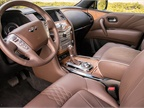The opulent cabin includes truffle brown semi-aniline leather and open