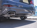 Rectangular dual exhaust pipes replace circular ones.