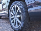 The 20-inch wheels with 285/45 all-season run-flat tires are optional.