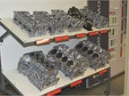 Examples of engine components of the various engine types produced at
