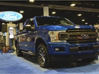 The 2018 F-150 (prototype shown) includes fleet-exclusive features