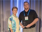 Pam Sederholm (left), AALA executive director, poses with Chad Fay at