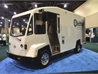 Boulder Electric Vehicle DV500 delivery van belonging to the City of