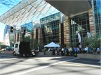 Drivers lined up to test drive the latest alternative-fuel vehicles at