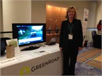 GreenRoad s table at the event.