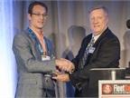 HDT Executive Editor David Cullen (right) presents Nussbaum