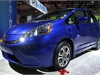 Honda showed its Fit EV at the event. This model will be available for