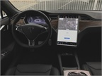 The Model S has a 17-inch touchscreen that controls most of the