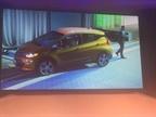 Element CEO Kristi Webb drove the Chevrolet Bolt into the ballroom