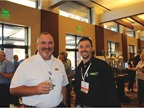 Pete Silva of PepsiCo networks with Charlie Mahoney of SCT Fleet