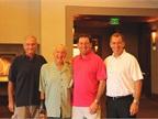 (L-R) Bobit Business Media s Bob Brown Sr., Ed Bobit, Bob Brown Jr.,
