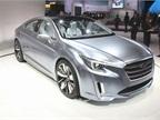 The coupe-like Subaru Legacy Concept has custom Ocean Silver metallic