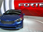 Kia showed its all-new 2014-MY Forte sedan at the event.