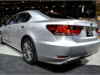 The Lexus LS 600h hybrid model features new styling for the 2013