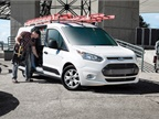 The Ford Transit Connect is available for 2018 as either a small cargo van or passenger wagon. (Photo: Ford Motor Co.)