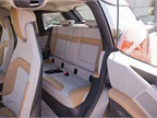 The vehicle can accomodate two rear-seat passengers.