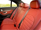 This model includes Cranberry Red leather seating.